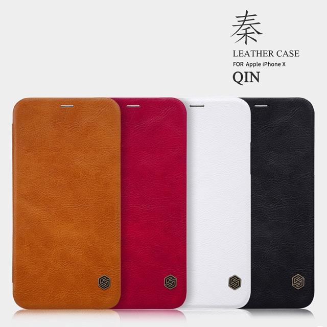 Nillkin เคส Apple iPhone X รุ่น Qin Leather