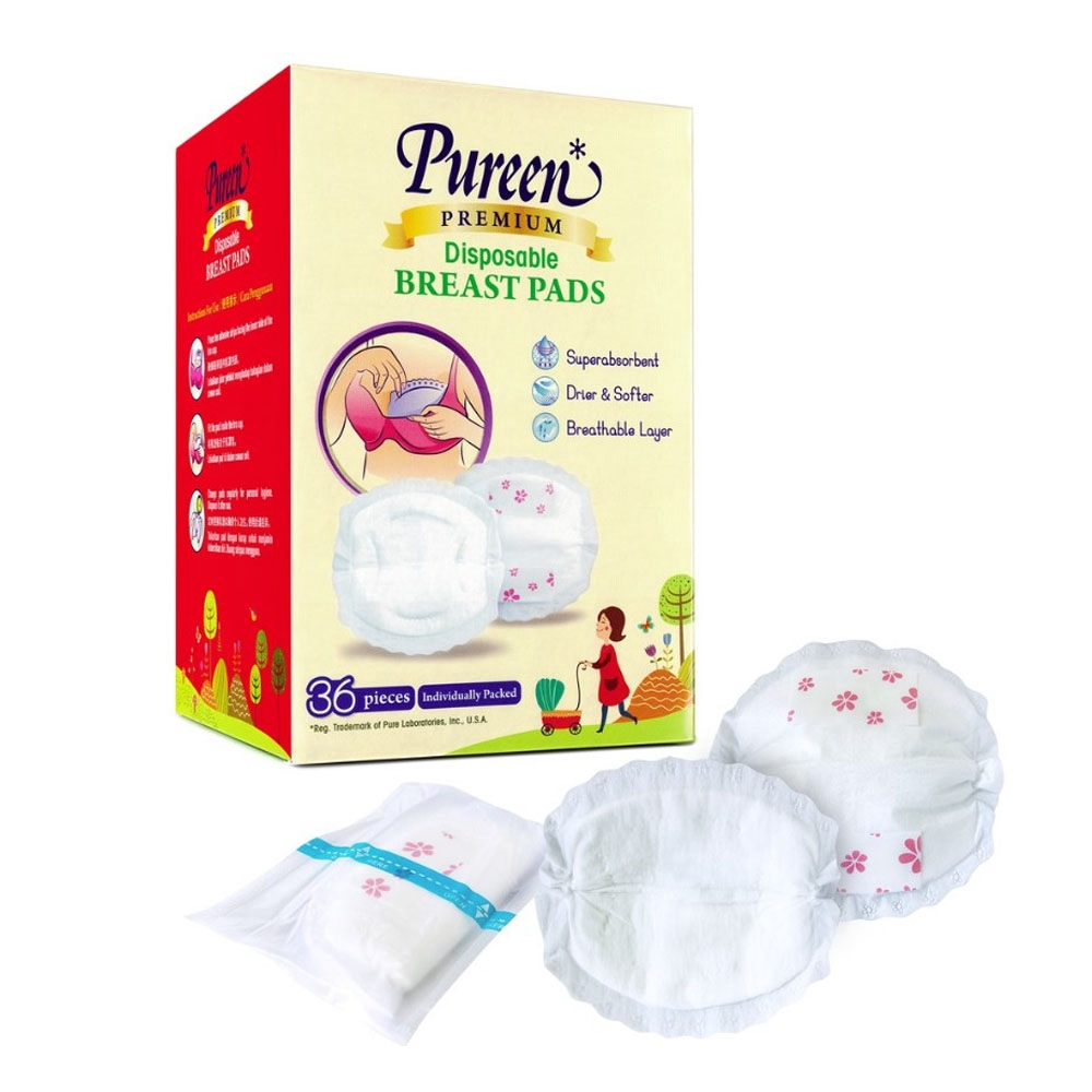 Pureen Breast Pads (Disposable) 36pc - Super Absorbent & Comfortable