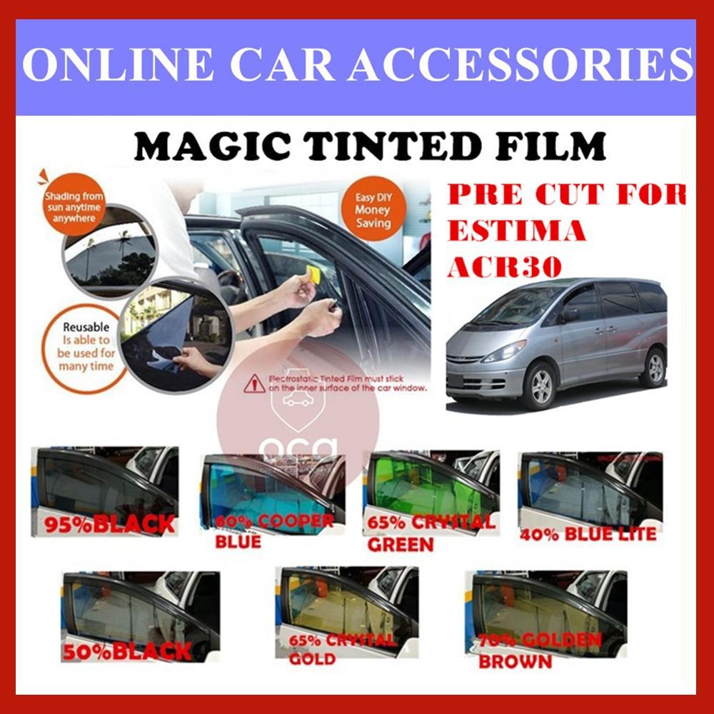 Toyota Estima ACR30  - Pre-Cut Shape Magic Tinted Solar Tinted (4 Windows & 2 Triangle /4 Windows+Rear)