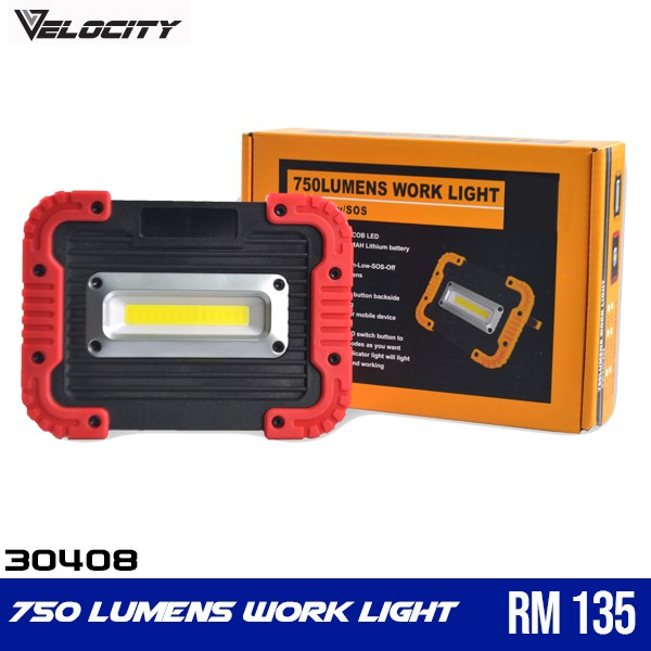 Camping Outdoor 10 W COB LED Portable Work Light Rechargeable