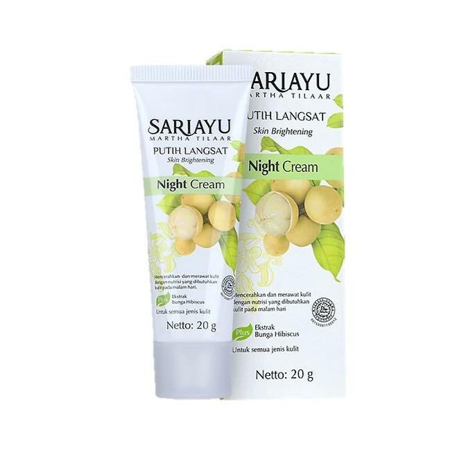 Sariayu Putih Langsat Skin Brightening Night Cream 20gr   Shopee Malaysia