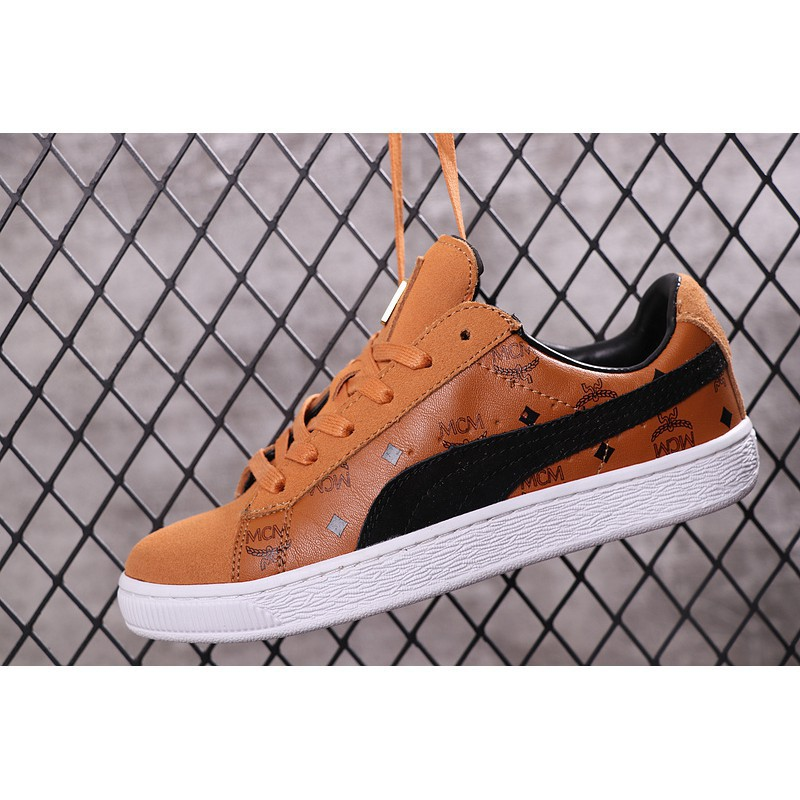 sale retailer 92589 25015 Original Puma Suede x MCM 50th Souvenir Edition Men Women Shoes (Brown)