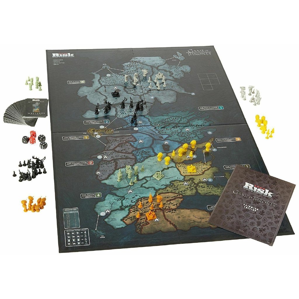 2 Maps Westeros Essos 7 Armies RISK Game of Thrones Limited GOT DELUXE Edition
