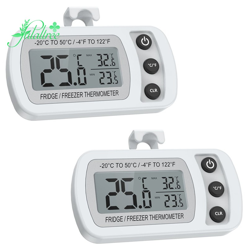 for Home Refrigerator Fridge Thermometer, Digital Freezer Thermometer Pack of 2 Max//Min Alarm Function Restaurants Bars or Cafe Large LCD Screen Waterproof