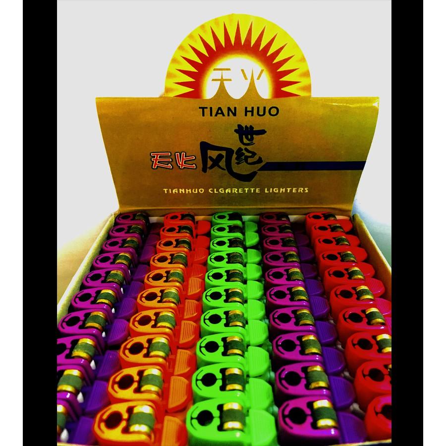 TIAN HUO Lighter Colorful Design Flint Disposable Gas Lighter 50pcs