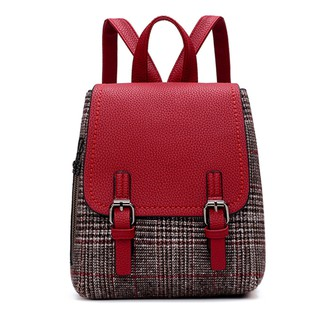 d2cdf9332821 Women Girl Canvas Fashionable Stylish Double-Shoulder Backpack ...