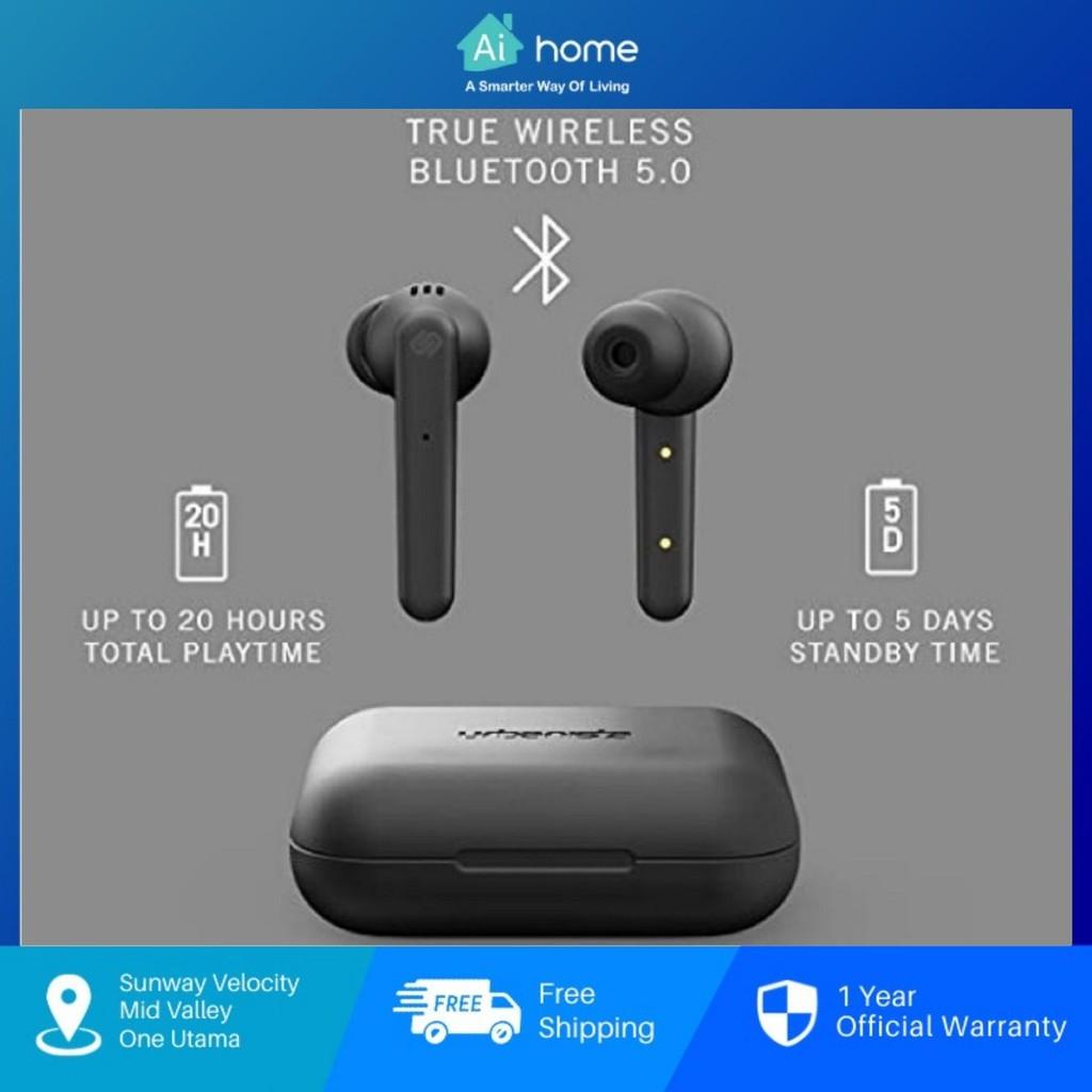 URBANISTA Paris - True Wireless Earbuds   20H Playtime Wireless Charging Case   Bluetooth 5.0   Noise Cancelling