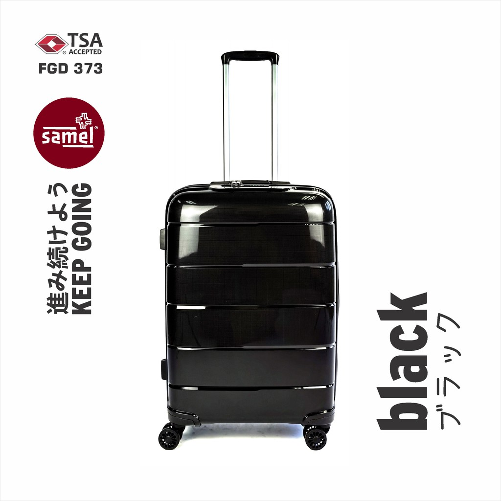 """2 IN 1 SET FGD 373 JAPANESES CONCEPT ANTI THEFT ZIPPER PP LUGGAGE 20"""" + 28"""""""