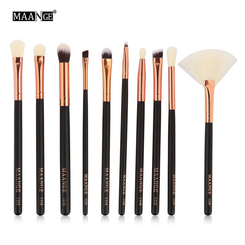 aba76cb49a4 ProductImage. ProductImage. 10 pcs Makeup Brushes Set Sets Pcs Blending  Eyeshadow