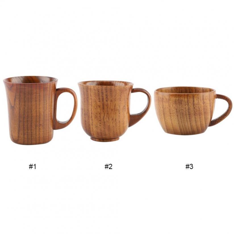 Natural Wood Wooden Tea Cup Hot Cold Drinks Cup Mug Kung fu Tea Bowls PICK