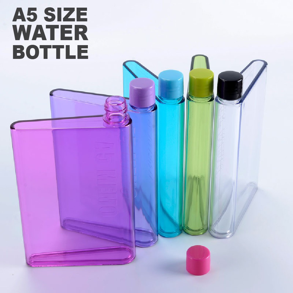 3efeb40217 A5 notebook Letter Reusable Transparent Plastic Water Bottle | Shopee  Malaysia