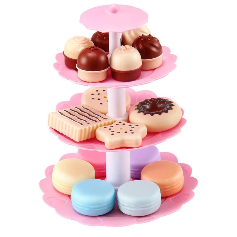 Stupendous 23Pcs Macaron Birthday Cake Shelf Kids Role Play Toy Shopee Malaysia Funny Birthday Cards Online Elaedamsfinfo