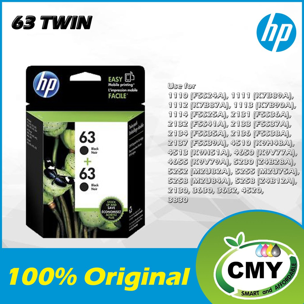 HP 63 BLACK / COLOR INK CARTRIDGE