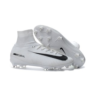 check out 035b1 0f703 Nike Mercurial Superfly V FG Men's Soccer Shoes High Ankle Football Boots  White