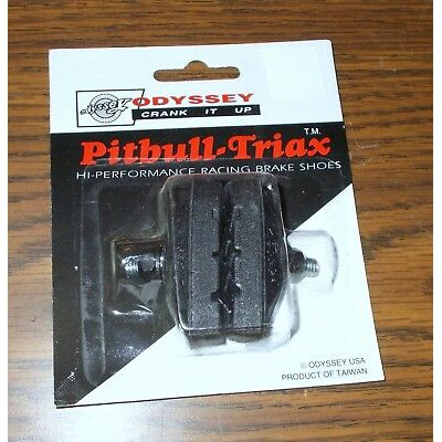 Odyssey Pitbull Triax Hi Performance Brake Shoes  Pads White NOS Vintage