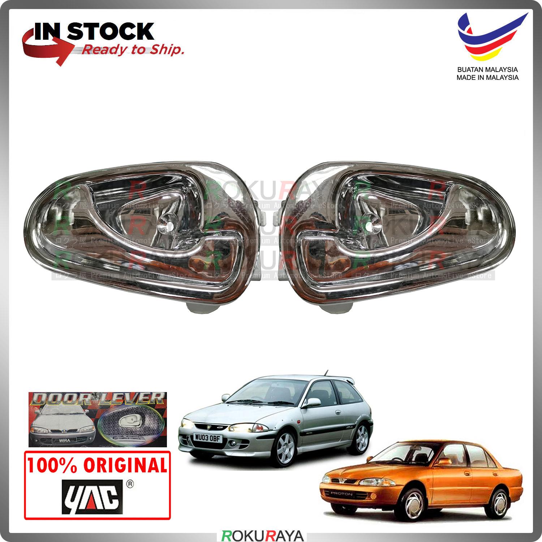 [CHROME] 2in1 Proton Wira Satria Putra ABS Plastic Door Inner Handle Garnish Moulding Cover Trim Car Accessories Local