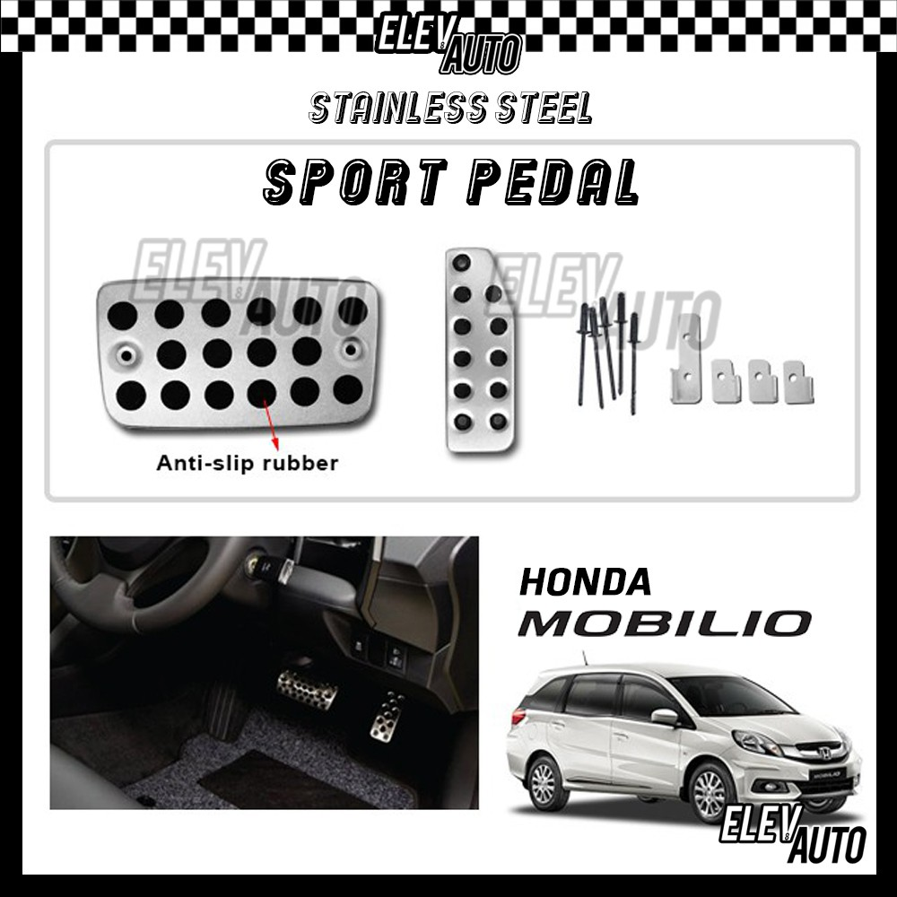 Honda Mobilio Stainless Steel Sport Pedal with Anti-slip Rubber