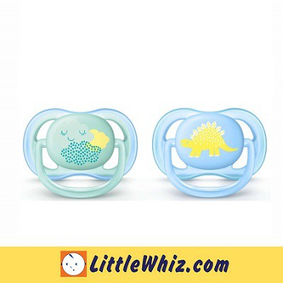 Philips Avent: Pacifier: Berry Ultra Air Soother - 0-6M - 2pcs ( Cloud/Dino )