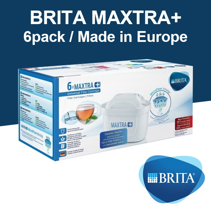 Brita Maxtra Plus Water Filter Cartridges Pack of 6