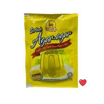 Kijang Serbuk Agar-Agar ~ Yellow Colour 10g  ( Free Fragile + Bubblewrap Packing )