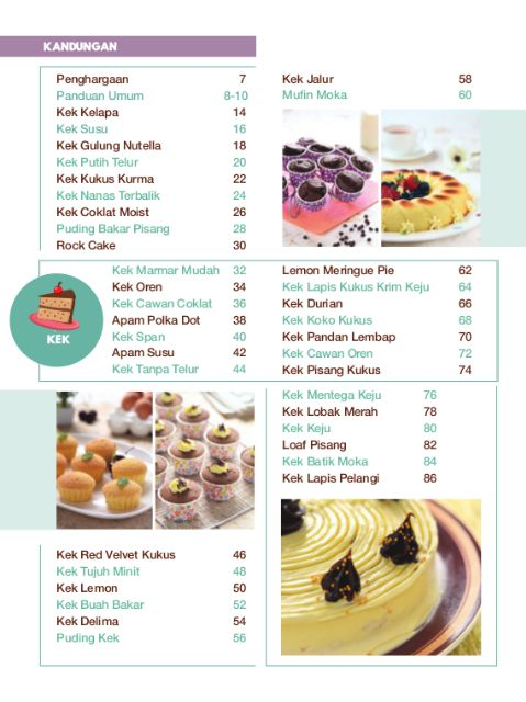 Buku 100 Resipi Biskut Kek Manisan Kudapan Chef Norzailina Nordin Kuih Raya