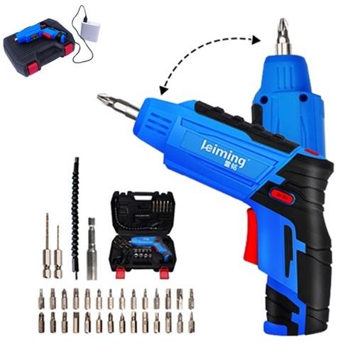 LEIMING Mini Cordless Electric Screwdriver Tools Set