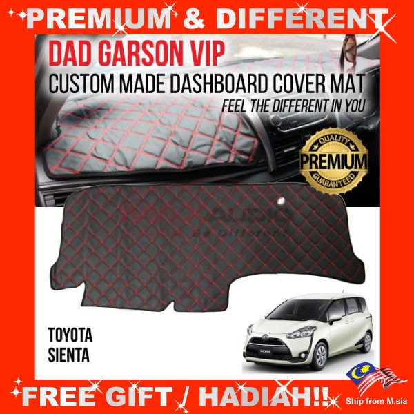 [FREE Gift] TOYOTA SIENTA DAD GARSON VIP Premium Genuine Quality PU Leather Dashboard Cover Mat