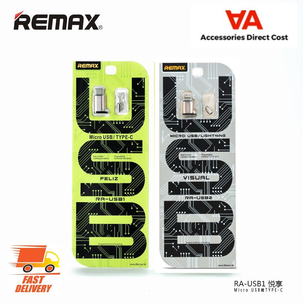 100% Original Remax OTG Usb Micro to Type C Adapter