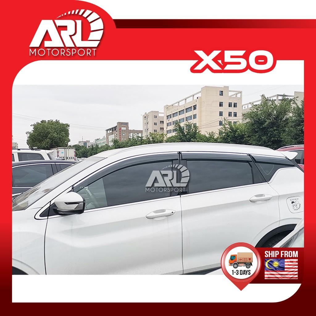 Proton X50 2020 2021 Door Visor With Steel Lining Waterproof Decoration 6pcs Car Auto Acccessories ARL Motorsport