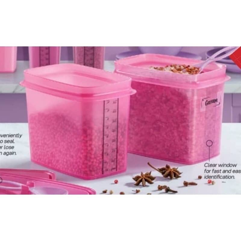 Pre-Order New Tupperware Shelf Saver with Spoon 840ml Pink