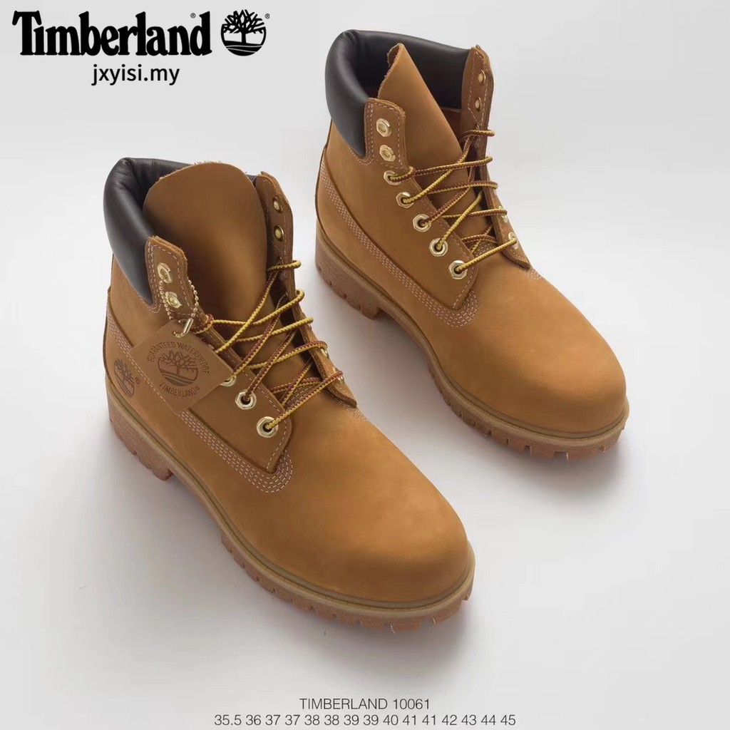 low priced a590e 44444 Timberland boots Men Womens Wheat Premium 6 Inch Leather Boots formal  waterproof