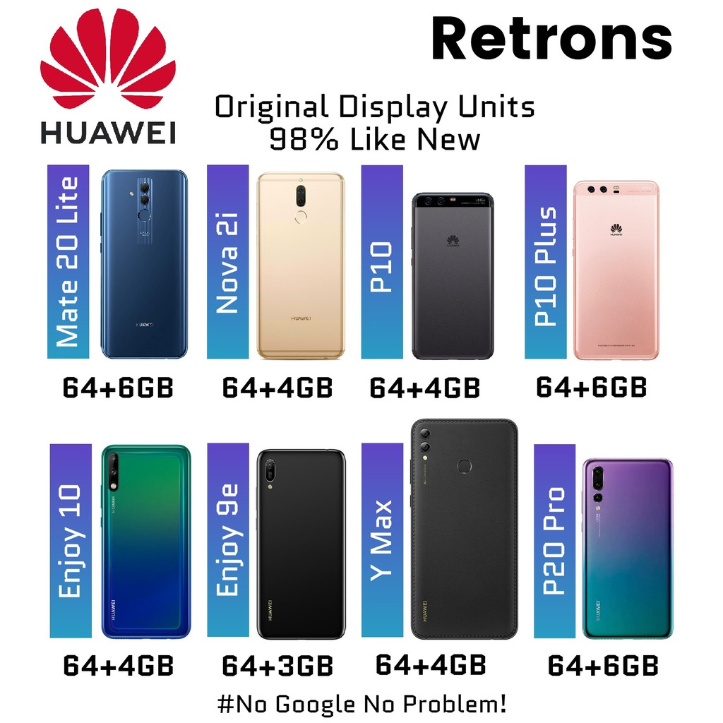 [11:11] Ori Huawei P10 P10 Plus Mate 20 lite Nova 2i Y Max Enjoy 10 9 9e Series [98% Like New Used Units] 1 Mth Warranty