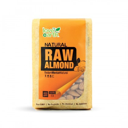 Love Earth Raw Almond 400g 乐儿天然巴旦木(生) 400公克 (袋装)