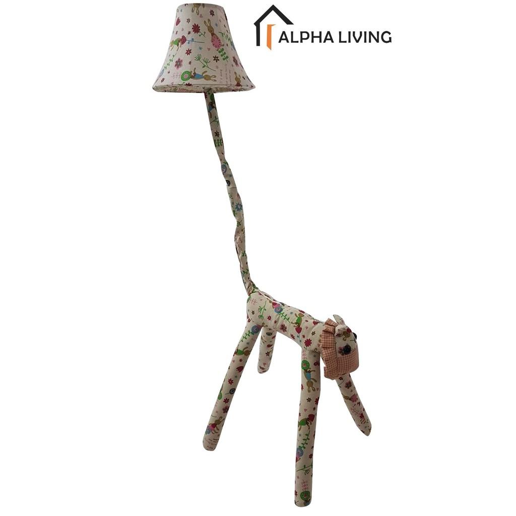 Cottage Lovely Creative Cartoon Fabric Lion Led Floor Lamp (LGT0014RD)