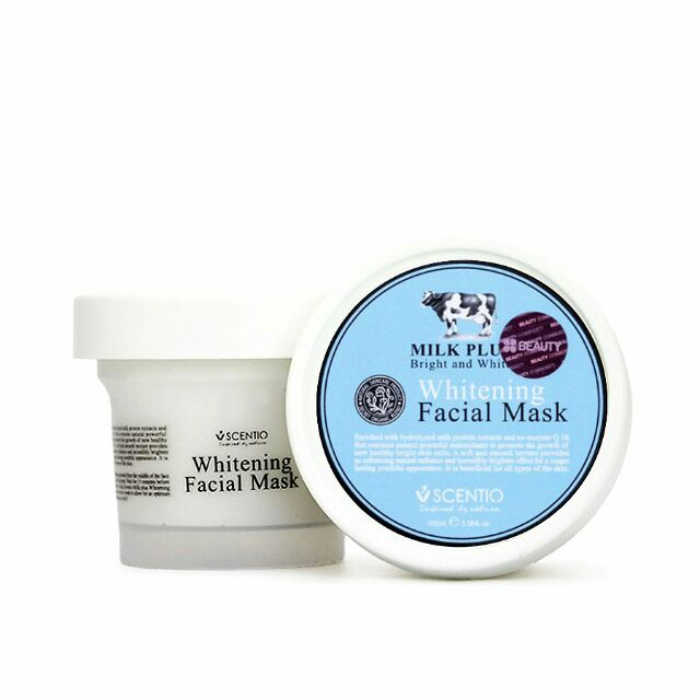 Beauty Buffet Scentio Milk Plus Whitening Facial Mask 100ml (FREE Cosmetic Bag)