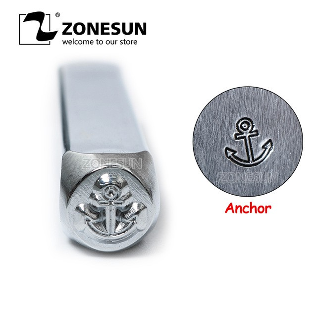 Anchor Jewelry Stamp Metal Logo Steel Stamp Mold Marking Tool Punch Die For Ring