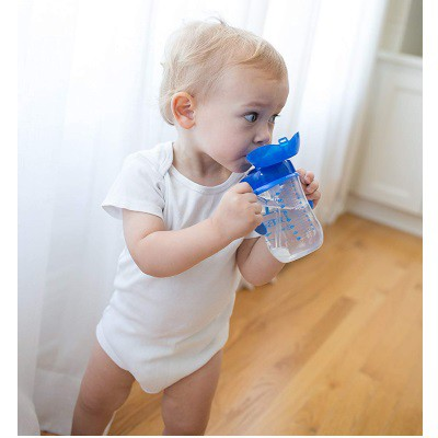 Dr Brown: Baby's Straw Cup 270ml - Blue