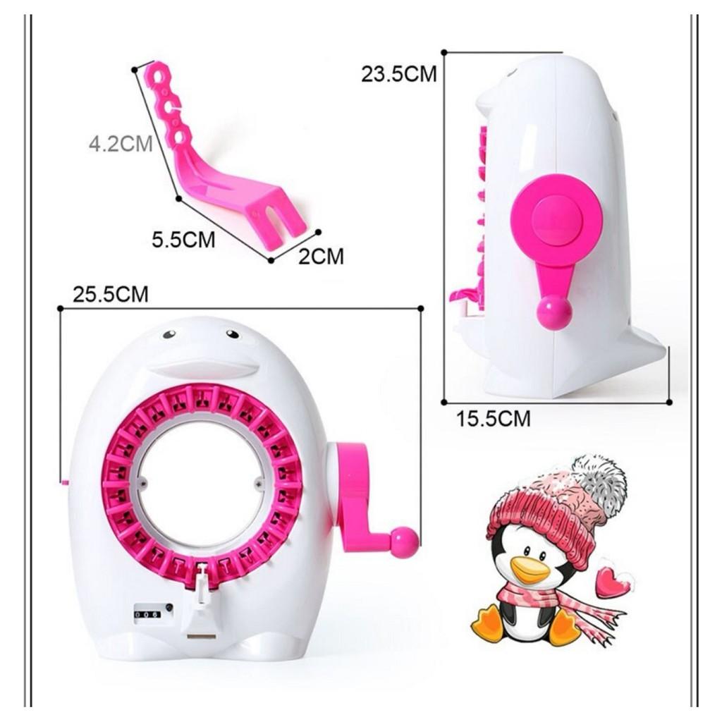 [ READY STOCK ]  22 Needle Positions Hand Knitting Machine Weaving Loom Knit Scraf Hat Kid Baby Toy Jualan Murah Mainan