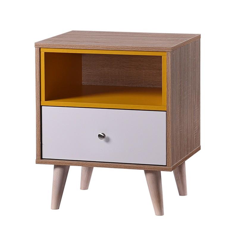 Furniture Direct HENNA 1 drawer solid wood bedside table/ meja tepi