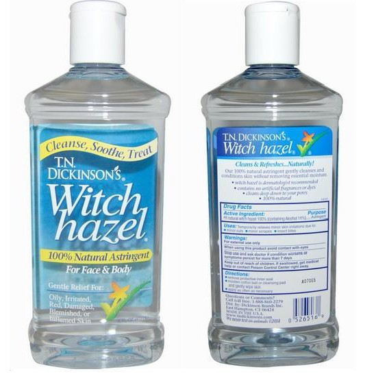 Witch Hazel, For Face & Body, 100% Natural (473 ml)