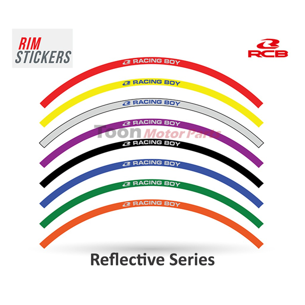 Racing boy rim stickers reflective shopee malaysia