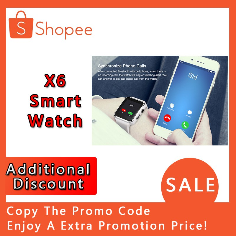 X6 Smart Watch with Camera Touch Screen Support SIM TF Card Bluetooth  Smartwatch
