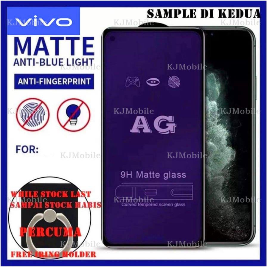 VIVO S1 AG Anti Blue Matte Anti Fingerprint Full Screen Tempered Glass(Free Gift)