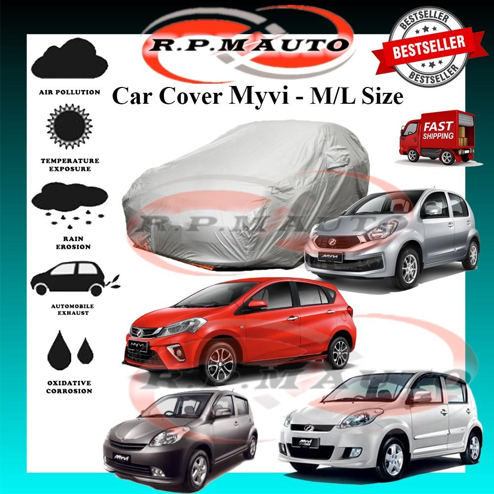 Perodua Myvi High Quality Yama Car Covers - M Size 460 x 170 x 119cm - L size 470 x 180 x 119cm kereta selimut myvi