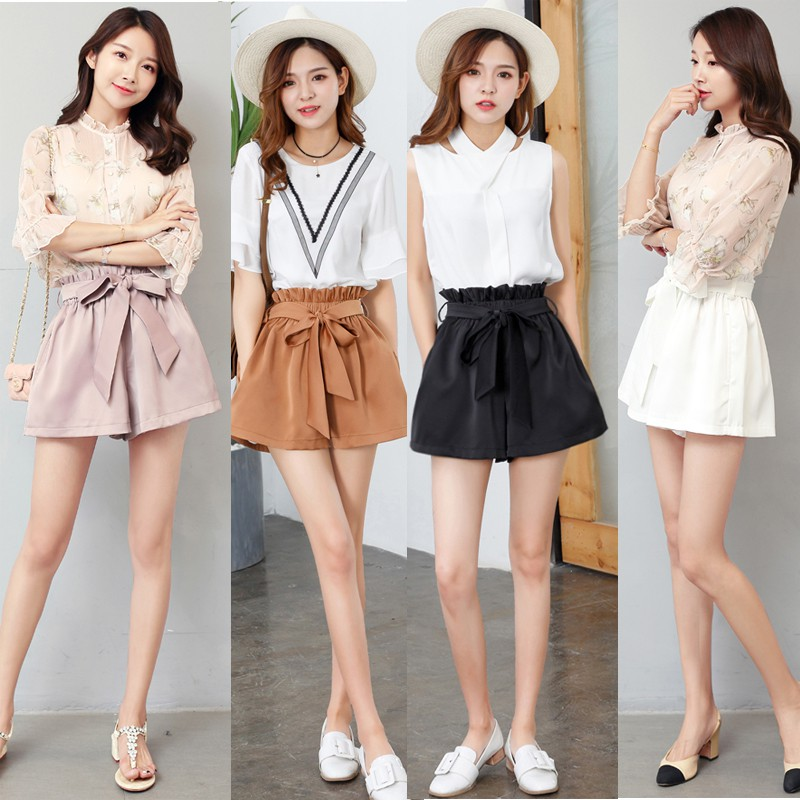 fddb7d0777 Summer new Korean small incense female two-piece short-sleeved casual pants  fas | Shopee Malaysia