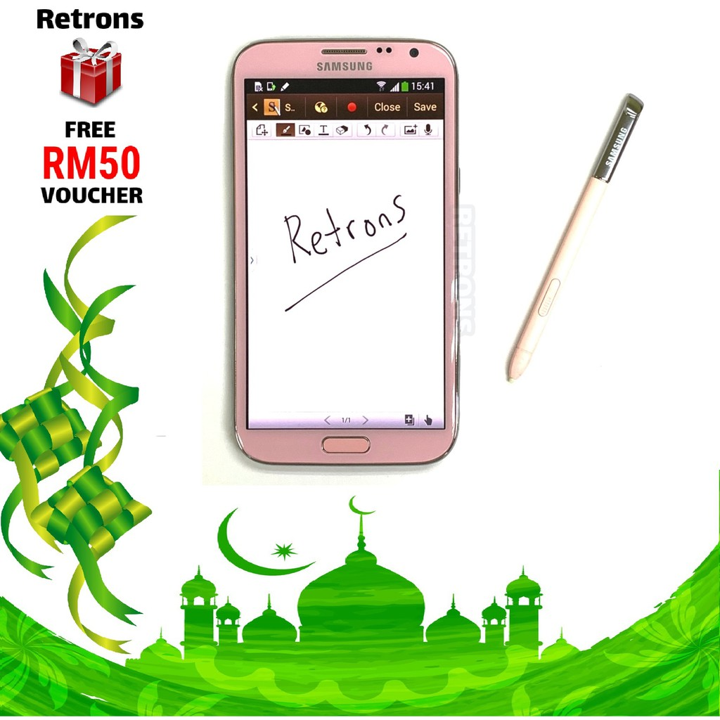 🇲🇾 Original Samsung Note 2 N7100 16GB + 2GB RAM Amoled HD LCD FREE iRing  Phone Holder + FREE RM50 Voucher