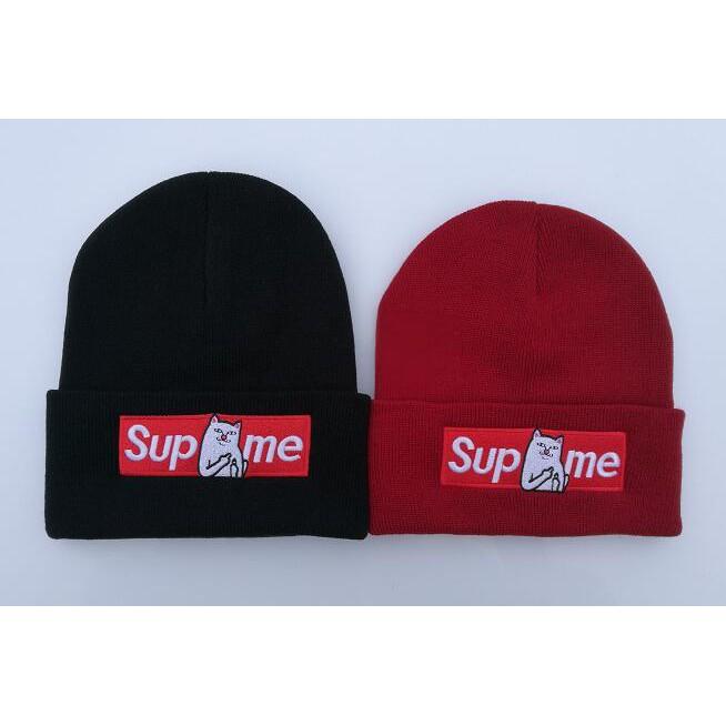Supreme Middle Finger Cat Beanies Hats For Women Men Baseball Cap
