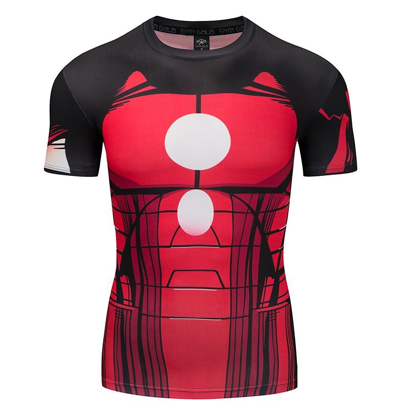 c8776e09b17 Men s fast dry super hero Batman 3D T-shirt sports fitness