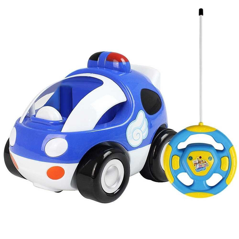 Great Discount RC Cartoon Race Car with Music and Lights Electric Radio Control Toy for Baby Toddlers Kids and Children