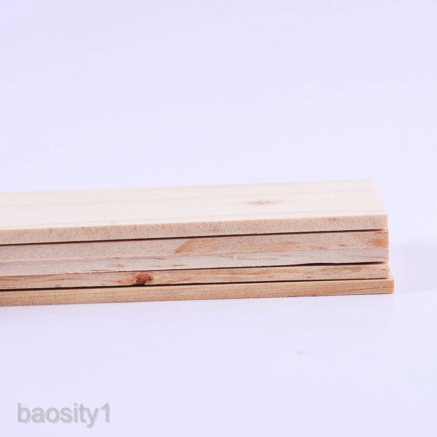 5PCS Wooden Sticks Pine Wood Strips Thickness 5//3//8mm Craft Projects Model
